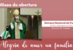 missa de abertura semana nacional das familias